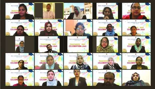 MES Indian School celebrated Teachers' Day on the virtual platform to honour teachers for their comm