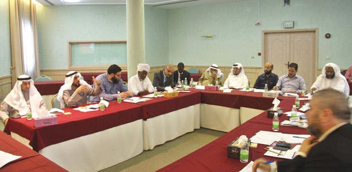 Participants are seen during the workshop.