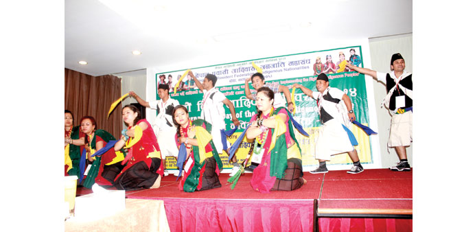 CULTURAL BRIDGES: Performers from Nepalese Magar Society showcase a traditional dance as part of 20t