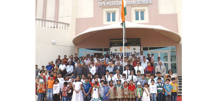 The celebrations at DPS-Modern Indian School.