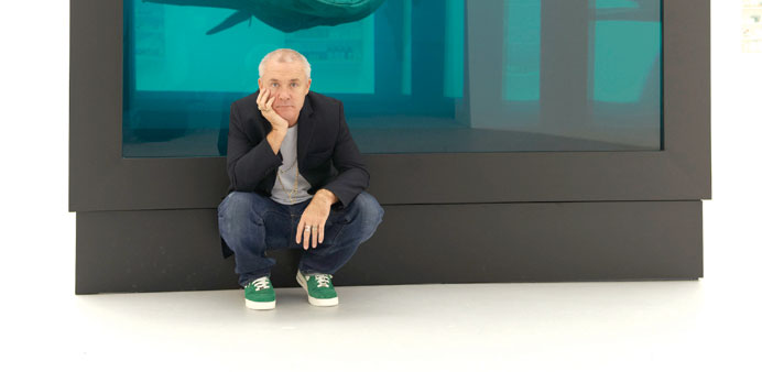 Damien Hirst in Doha.