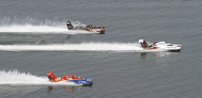 The usual quiet along the Corniche will be shattered by the  roar of the hydroplanes during the Oryx
