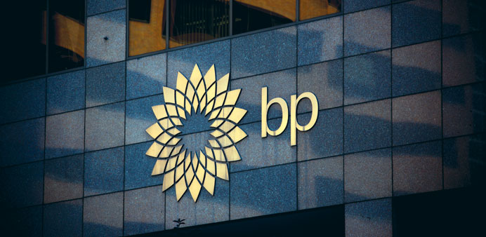 The BP logo is seen at the BP Centre in Calgary, Canada. The company said yesterday it is dropping p