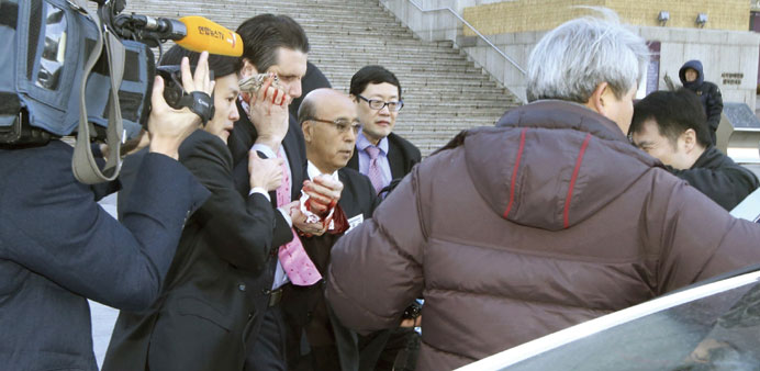 This March 5 picture shows Ambassador Lippert after he was slashed in the face at a public forum in