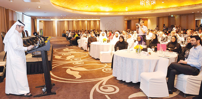 Medical professionals and officials taking part in the workshop yesterday.