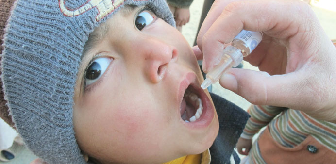 A file photo showing a polio vaccine being administered.