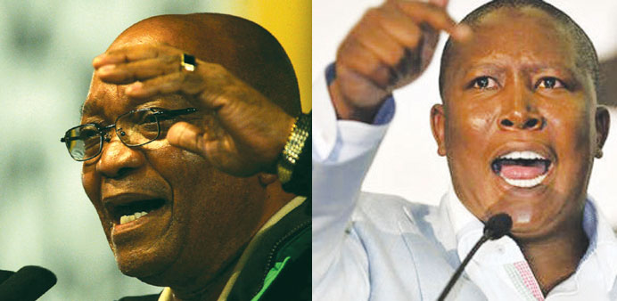 Jacob Zuma and Julius Malema