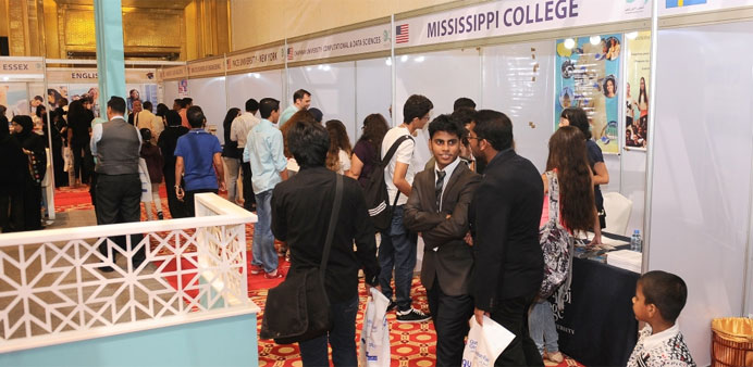 The opening of the Qatar Global Education Fair yesterday drew a constant stream of students and visi