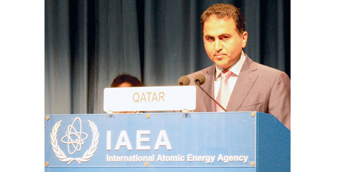 Al-Mansouri speaks at the IAEA conference.