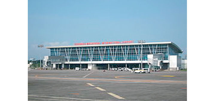 The passenger terminal at Clark International Airport in the Philippines.