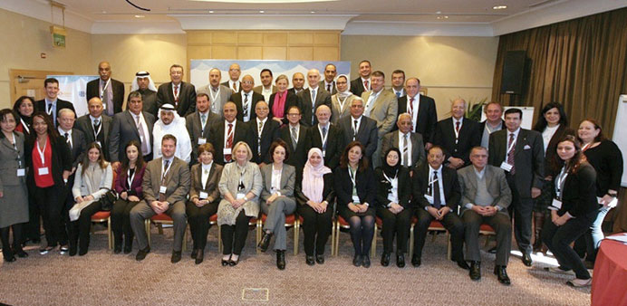 Officials and dignitaries who attended the deliberations in Amman.