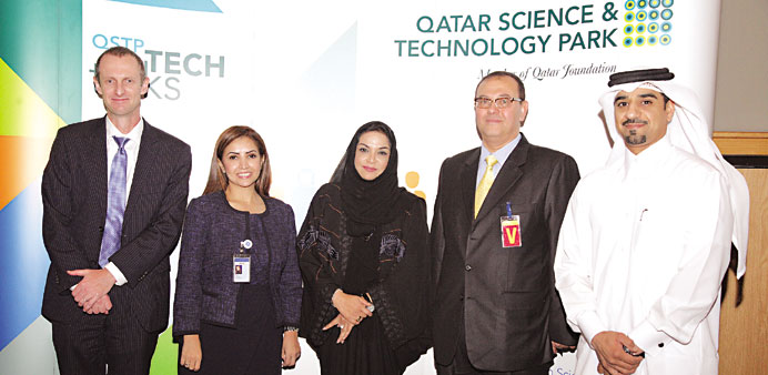 The speakers and QSTP officials at the seminar.