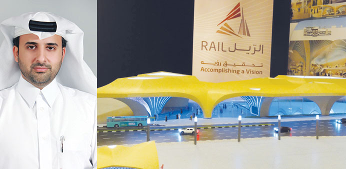 The final design of the Doha Metro stations. INSET:Abdulla Abdul Aziz al-Subai, managing director, Q