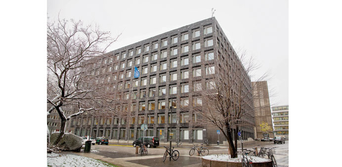 The headquarters of Sweden's central bank in Stockholm. The Riksbank has said one of the tools at i
