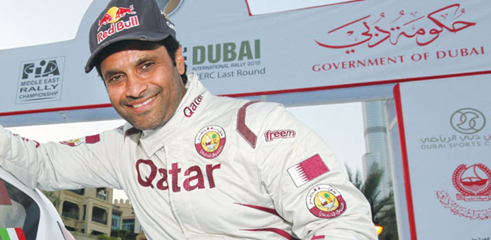 Al-Attiyah enters his Qatar Rally Team buggy which made such an impact on its competitive debut in t