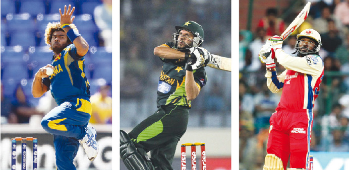 Lasith Malinga, Shahid Afridi and Chris Gayle are some of the Platinum category players up for grabs