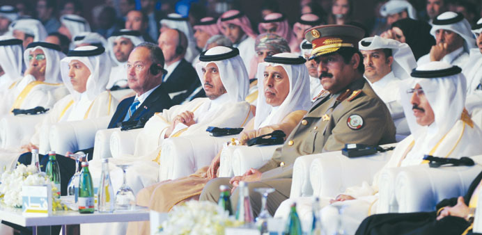 HE the Prime Minister and Minister of Interior Sheikh Abdullah bin Nasser bin Khalifa al-Thani with