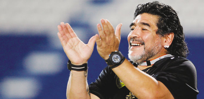 File picture of Diego Maradona.