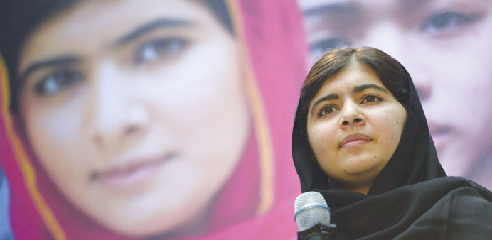 The legend lives: Malala Yousafzai speaking during a World Bank meeting in Washington where she call