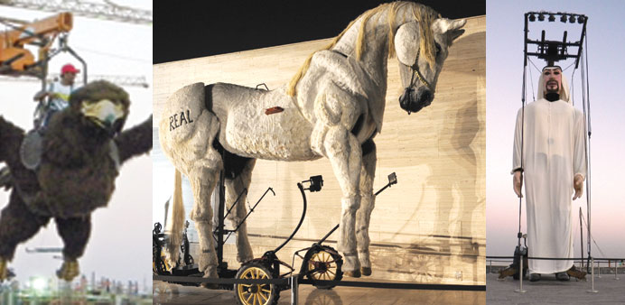 Giant puppets set up at Katara for the Eid al-Adha festivities. PICTURES: Thajuddin and Joey Aguilar