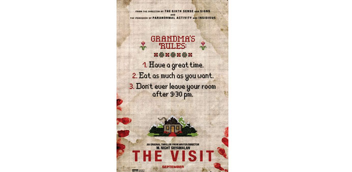 A poster for The Visit.