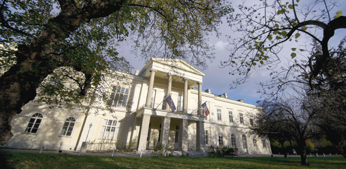 The Palais Clam-Gallas in Vienna. The Qatari embassy is the building's new owner.
