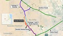 The map of the sectors of the road opened in the Rawdat Rashed area