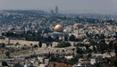 A general view shows the Dome of the Rock (C) and the Al-Aqsa mosque (L) in Jerusalem's Old City on